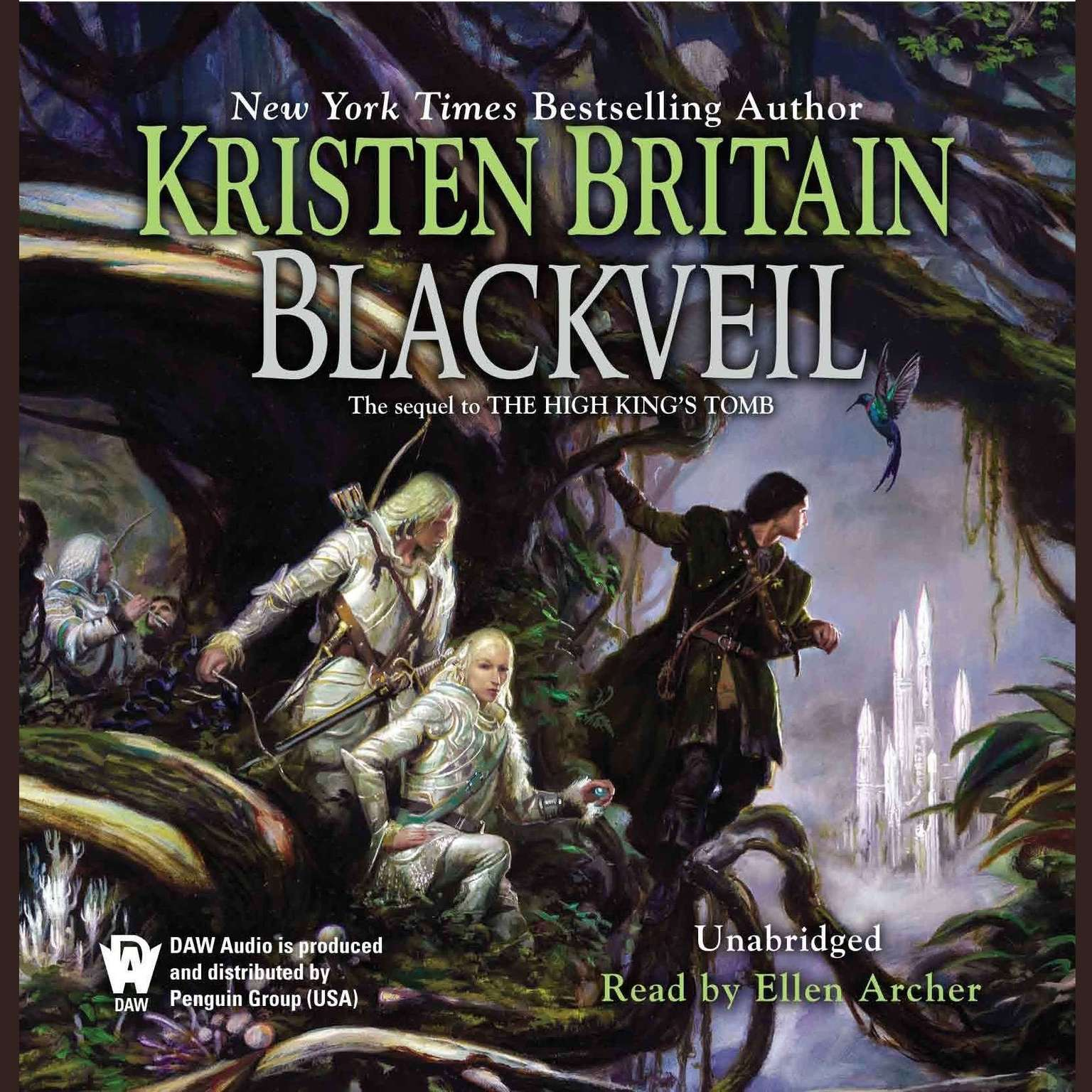 Printable Blackveil: Book Four of Green Rider Audiobook Cover Art