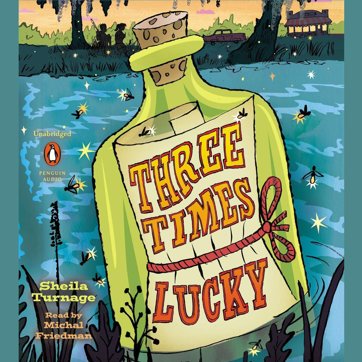 Printable Three Times Lucky Audiobook Cover Art