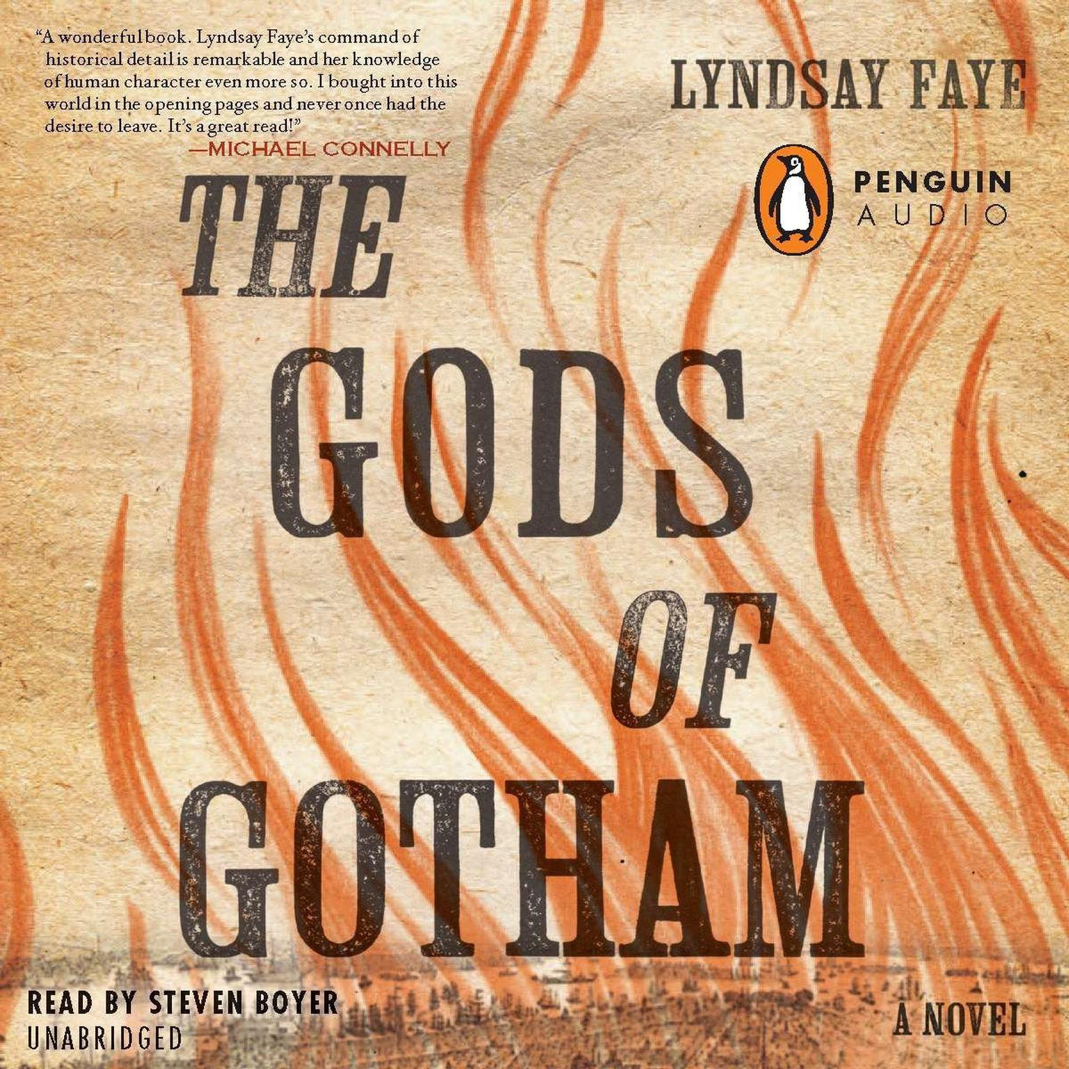 Printable The Gods of Gotham Audiobook Cover Art