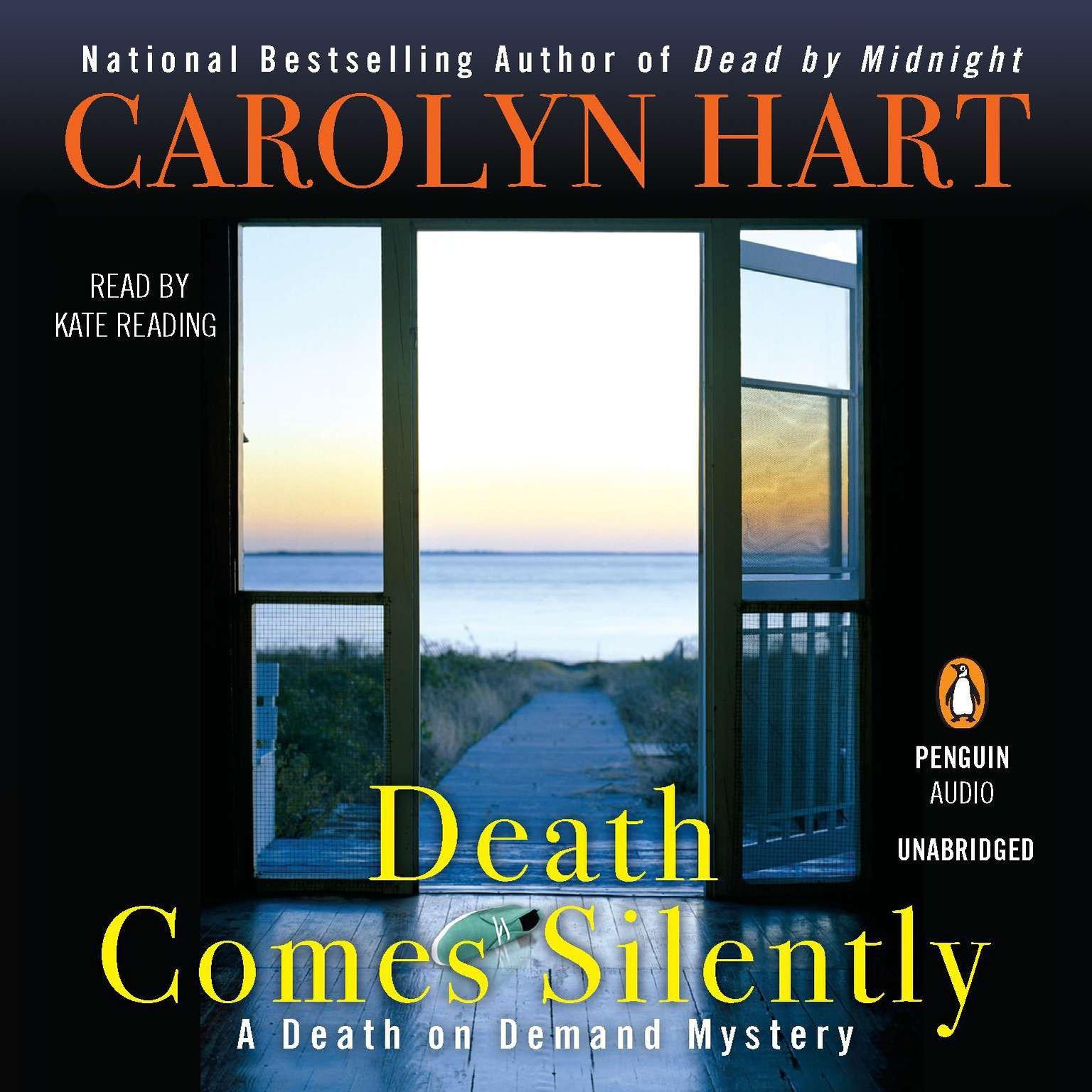 Printable Death Comes Silently Audiobook Cover Art