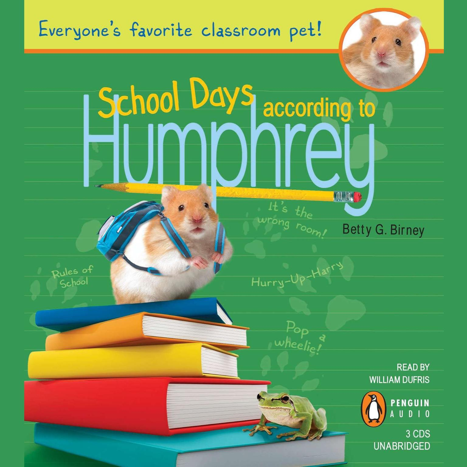 Printable School Days According to Humphrey Audiobook Cover Art