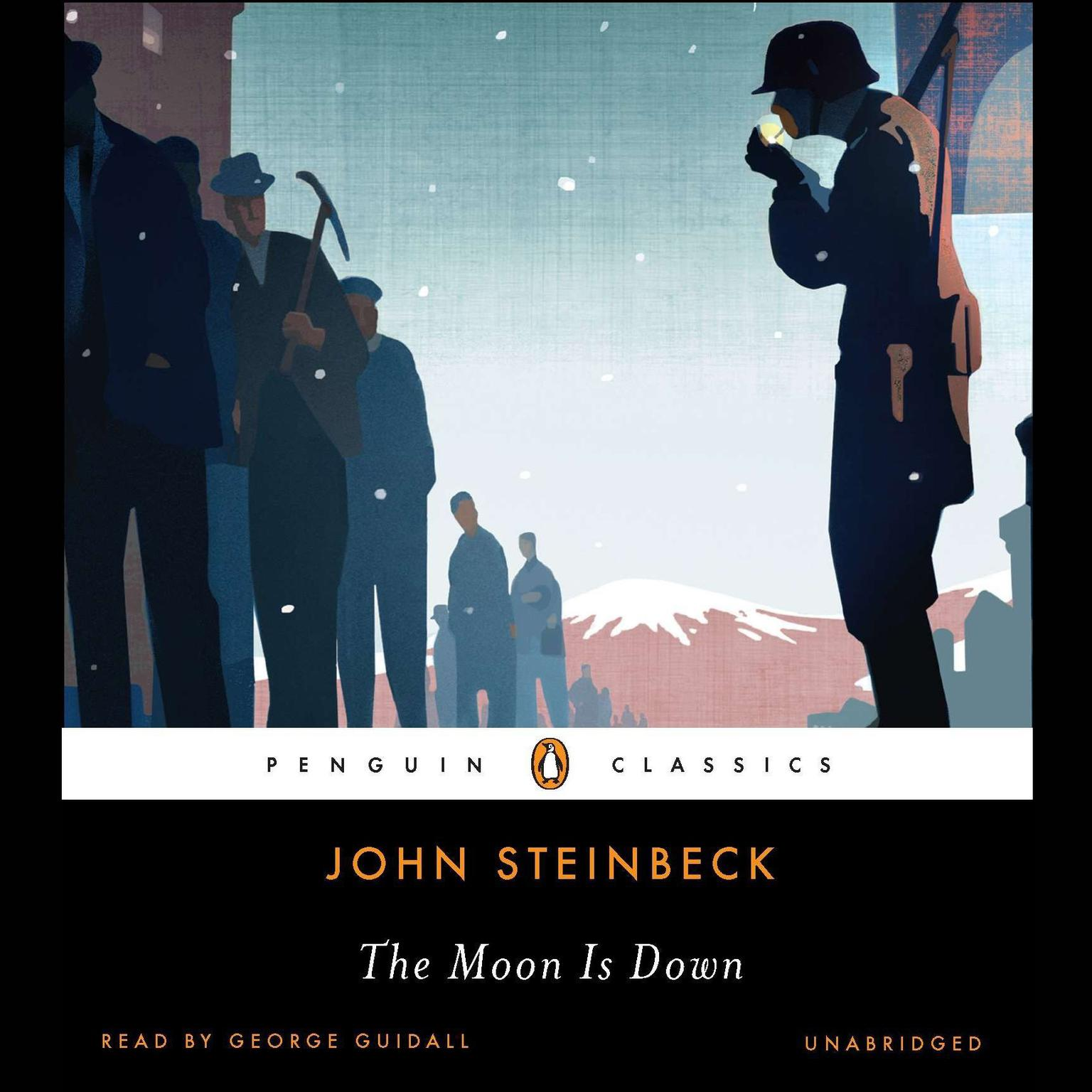 Printable The Moon Is Down Audiobook Cover Art