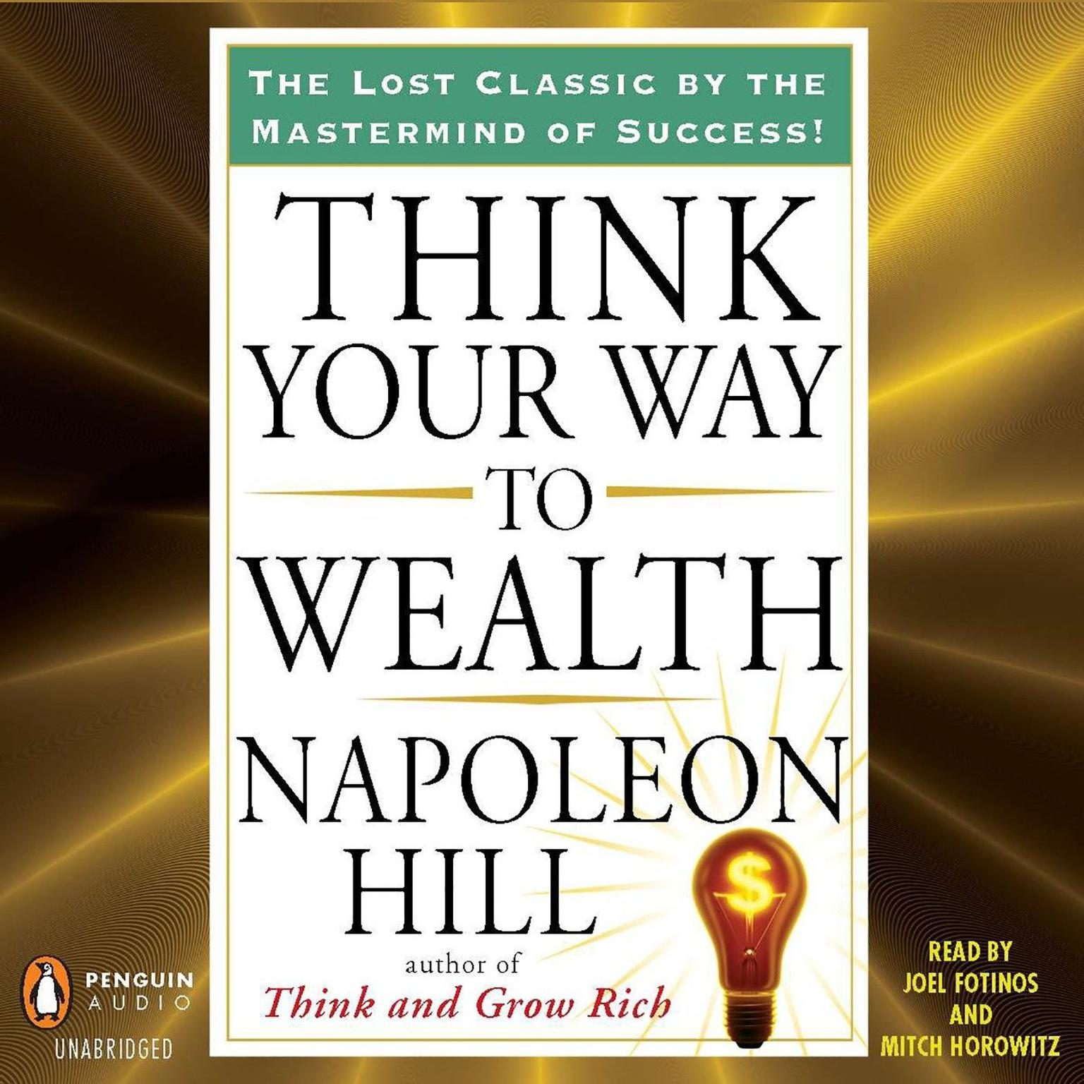 Printable Think Your Way to Wealth Audiobook Cover Art
