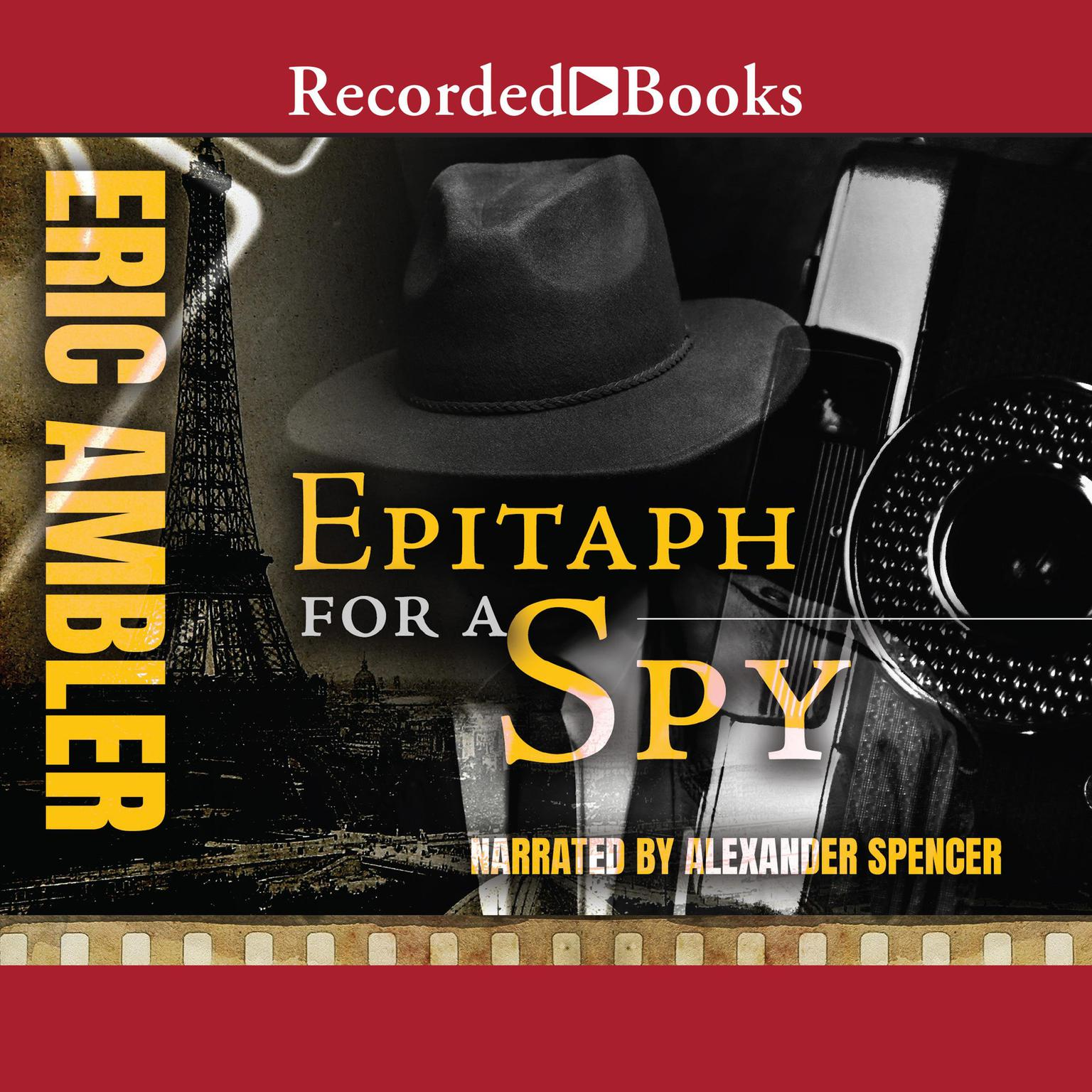 Printable Epitaph for a Spy Audiobook Cover Art