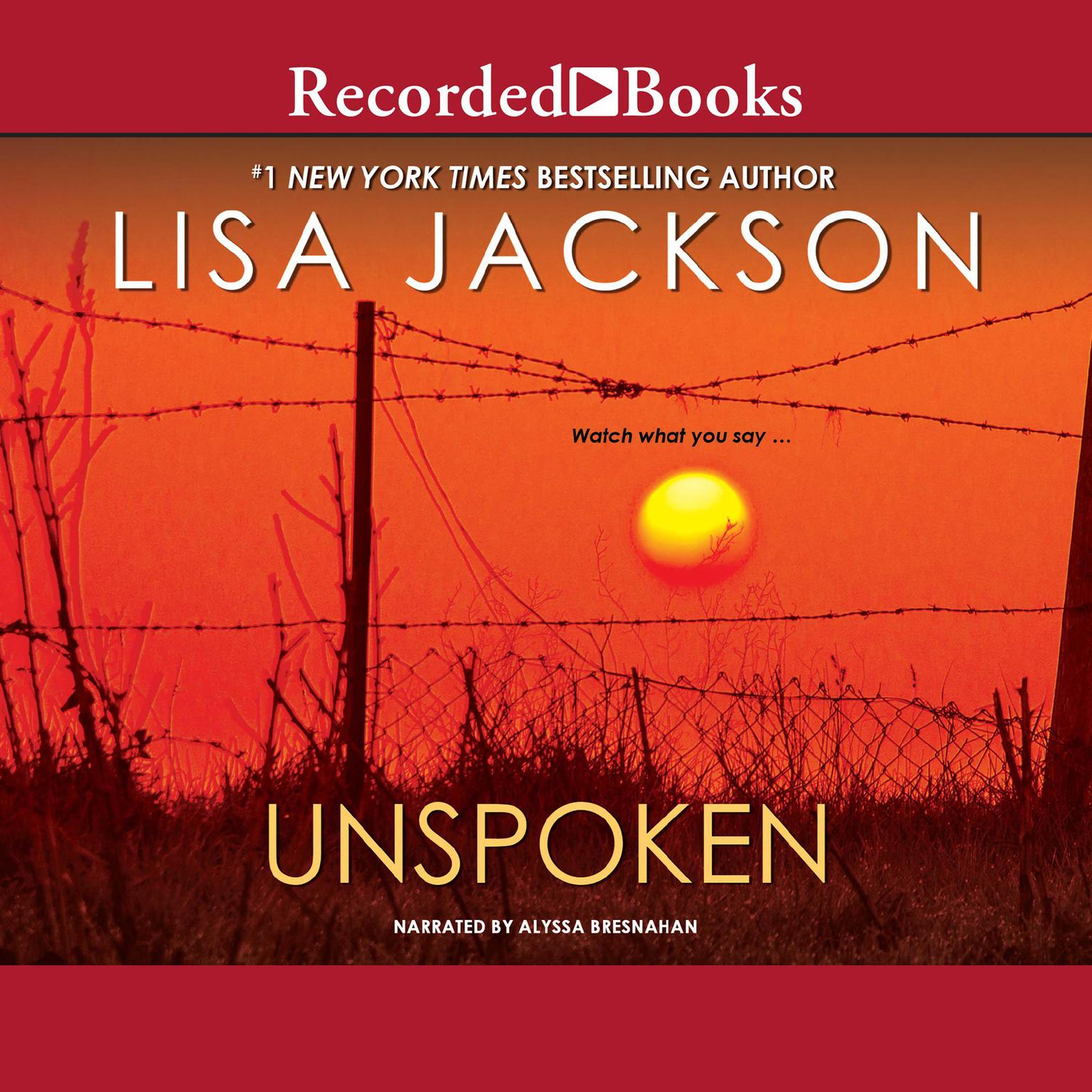 Printable Unspoken Audiobook Cover Art