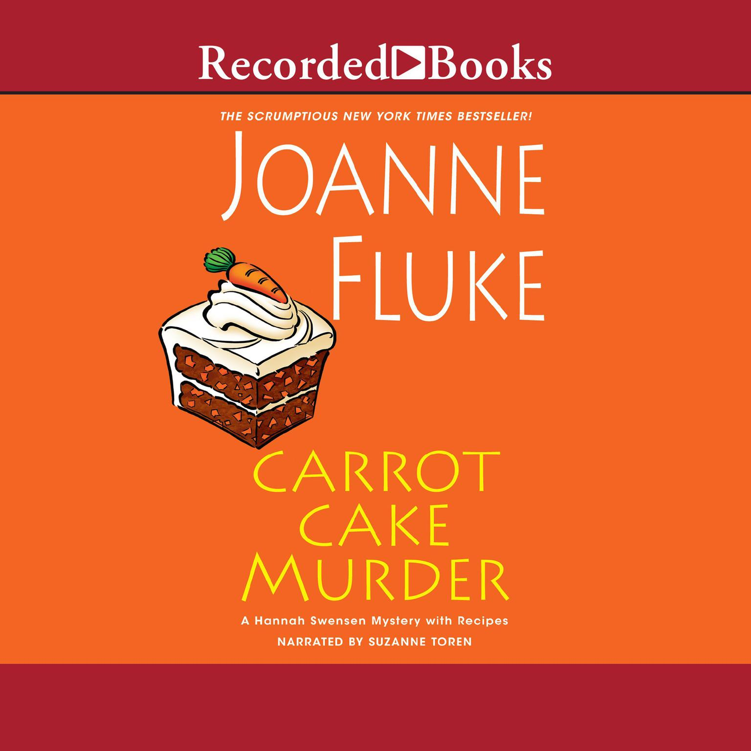 Printable Carrot Cake Murder Audiobook Cover Art
