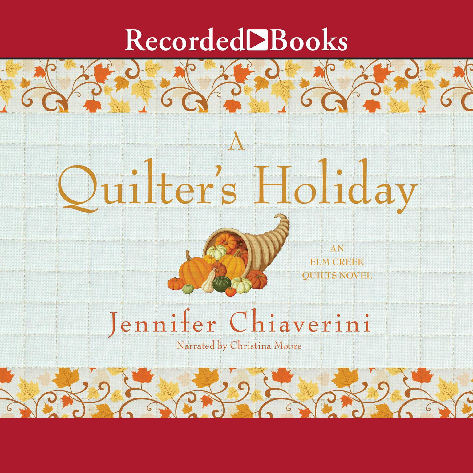 Printable A Quilter's Holiday Audiobook Cover Art