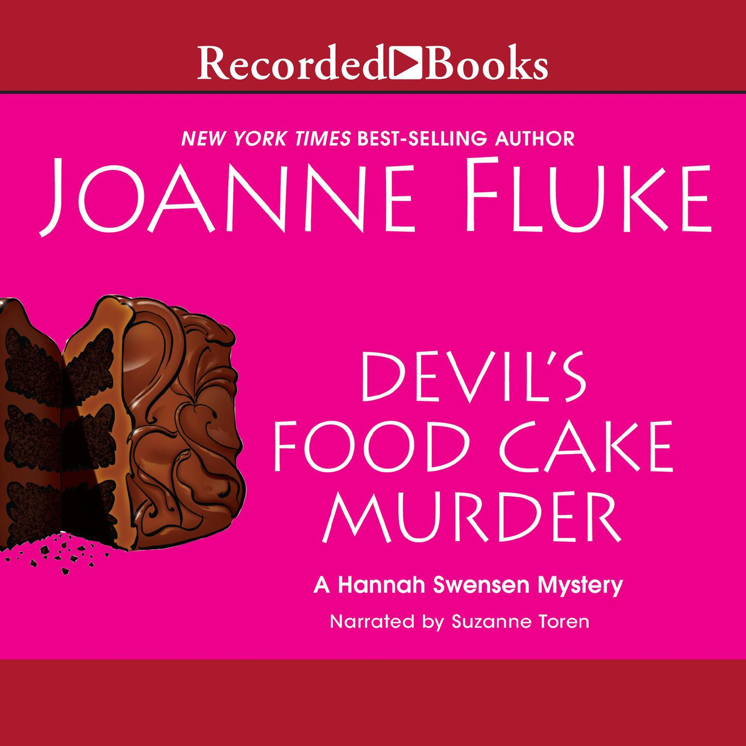 Printable Devil's Food Cake Murder Audiobook Cover Art