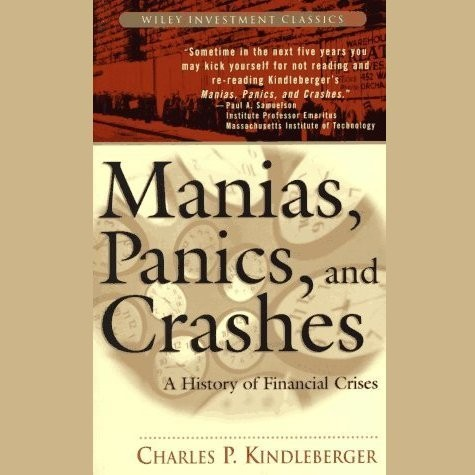Printable Manias, Panics, and Crashes: A History of Financial Crises Audiobook Cover Art