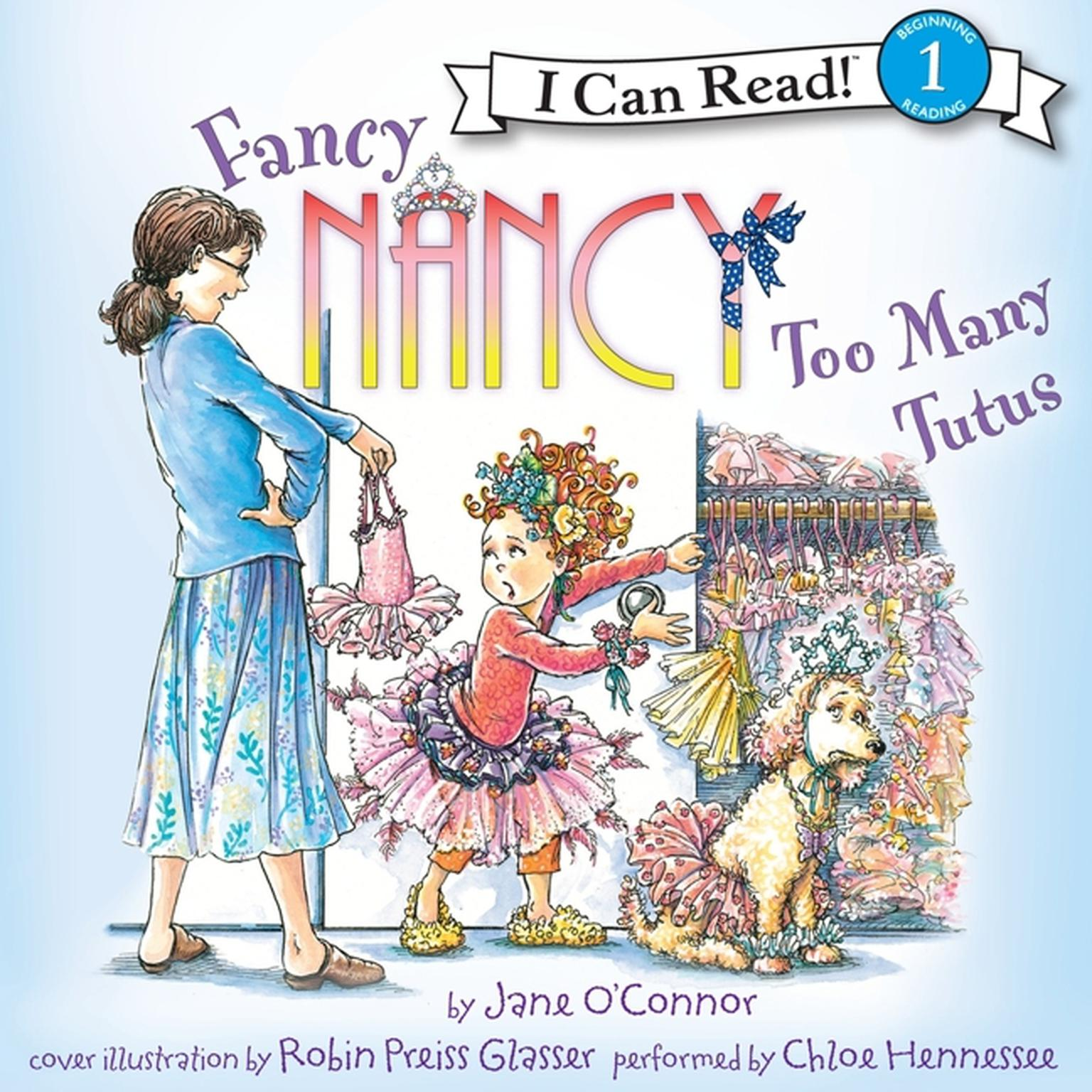 Printable Fancy Nancy: Too Many Tutus Audiobook Cover Art