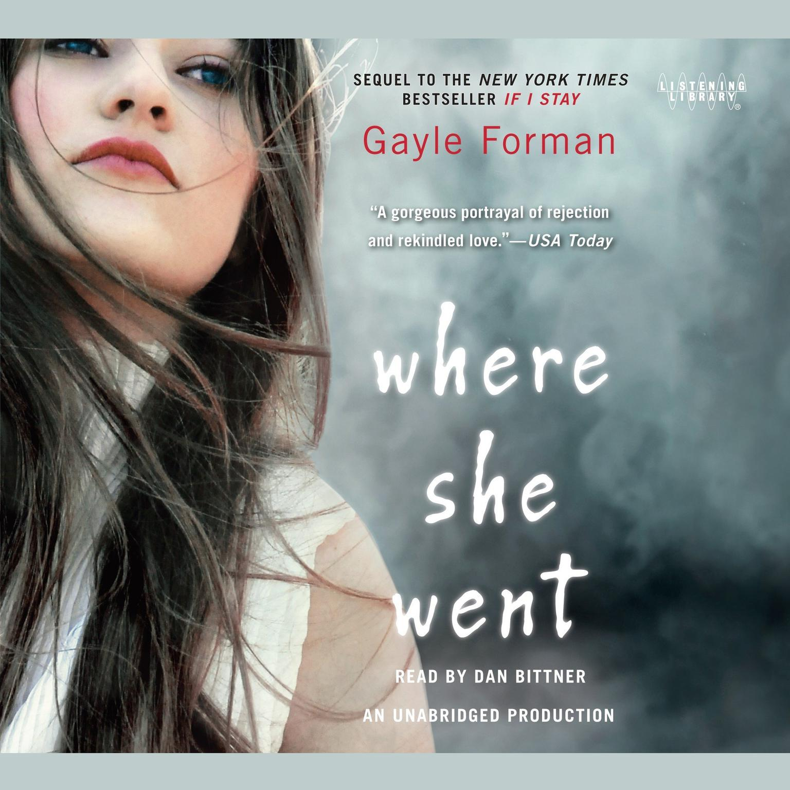 Printable Where She Went Audiobook Cover Art