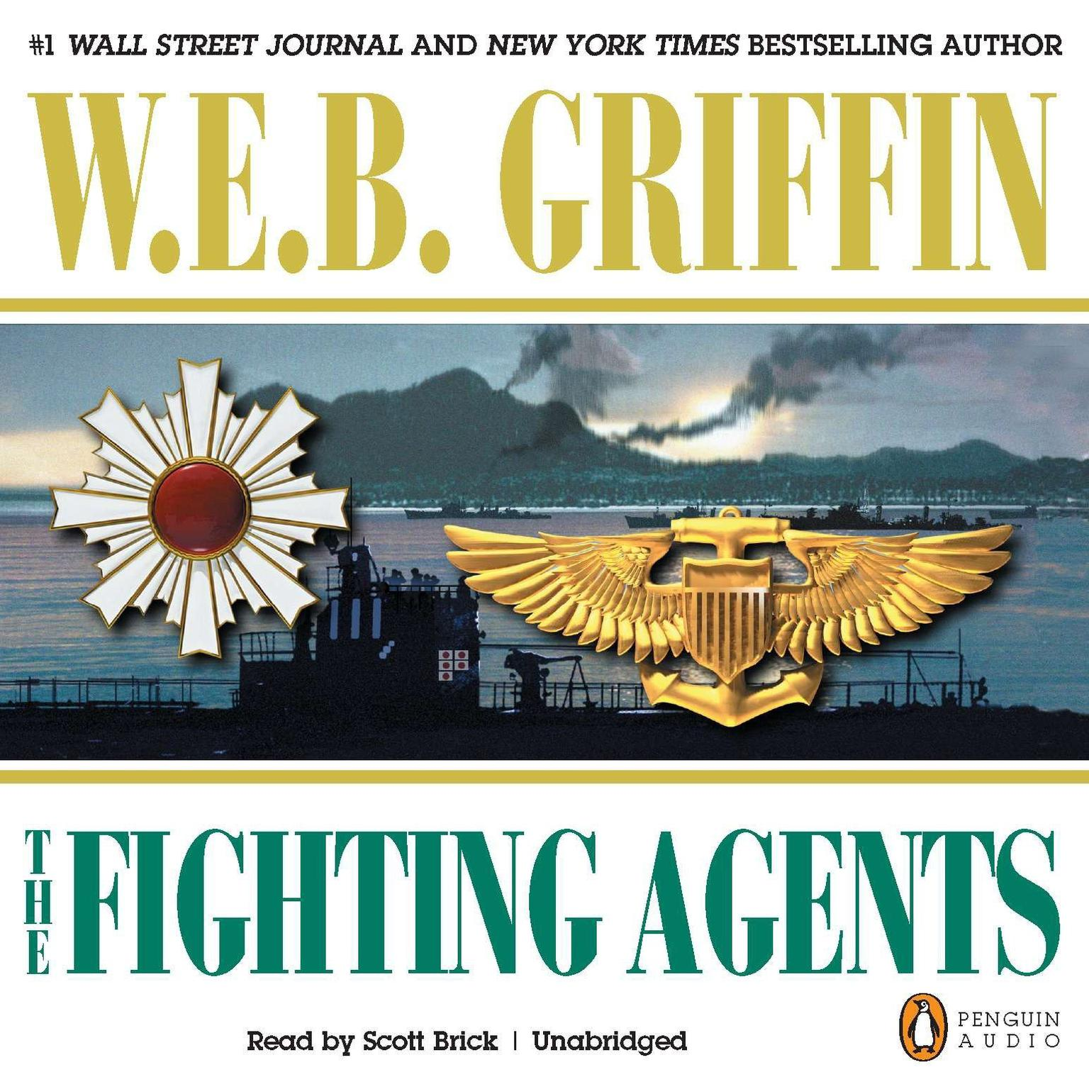Printable The Fighting Agents Audiobook Cover Art