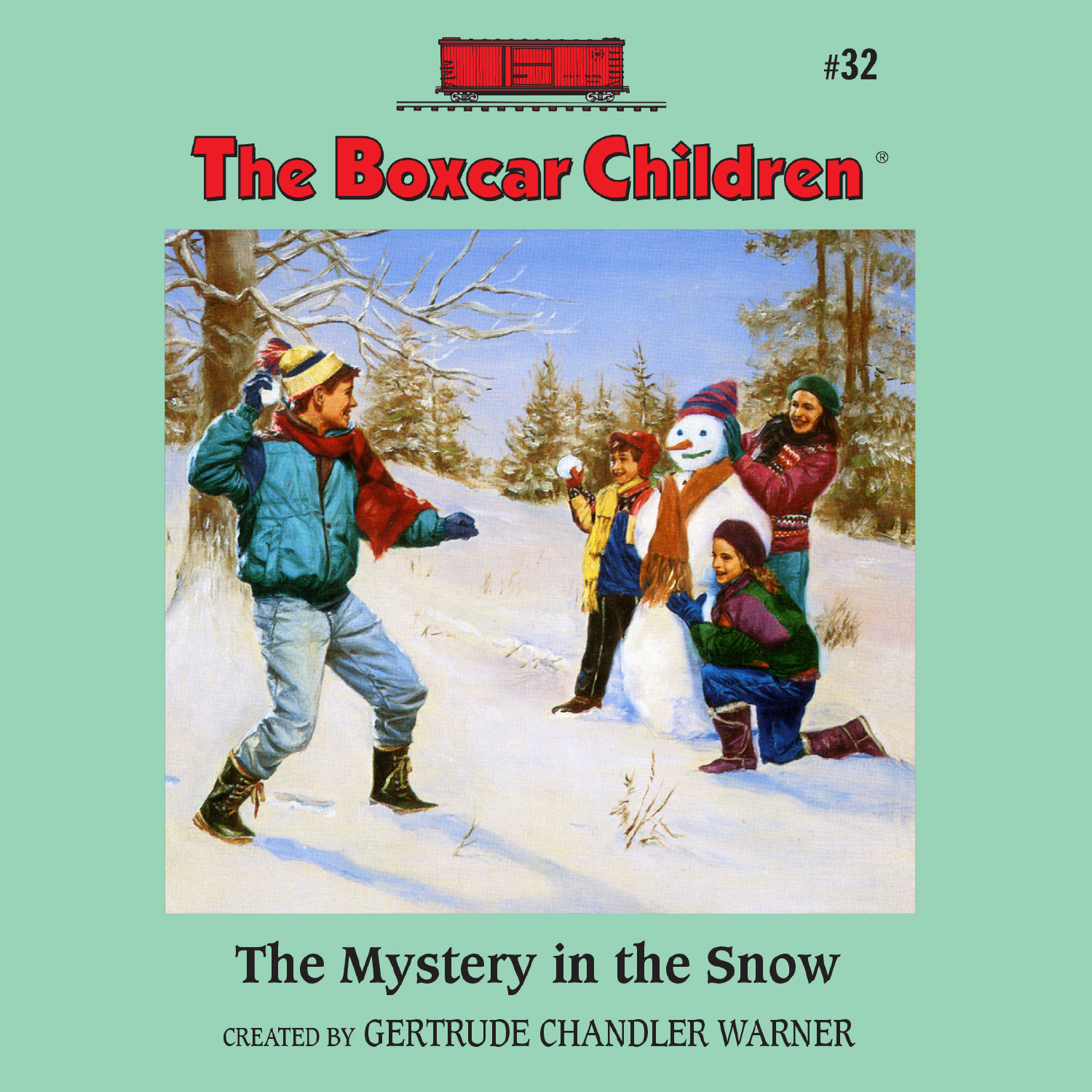 Printable The Mystery in the Snow Audiobook Cover Art