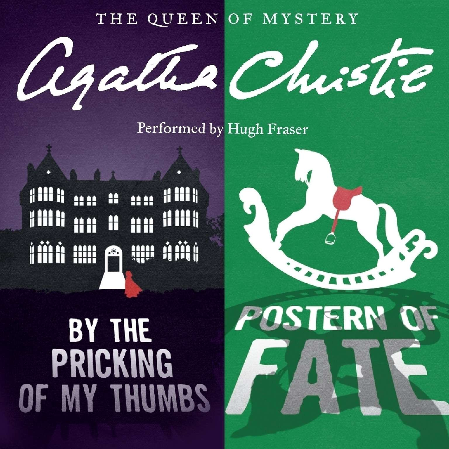 Printable By the Pricking of My Thumbs & Postern of Fate Audiobook Cover Art