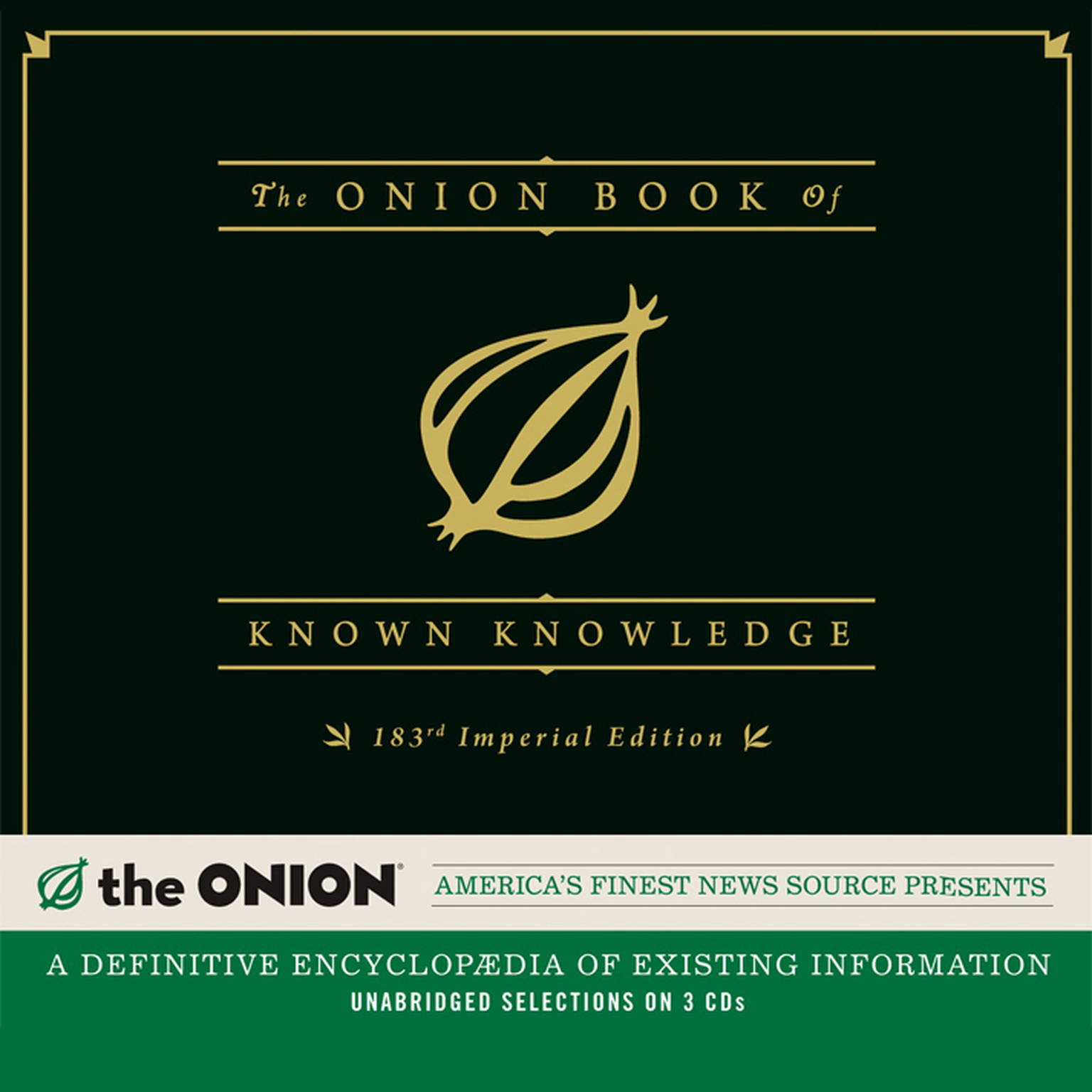 Printable The Onion Book of Known Knowledge: A Definitive Encyclopaedia of Existing Information Audiobook Cover Art