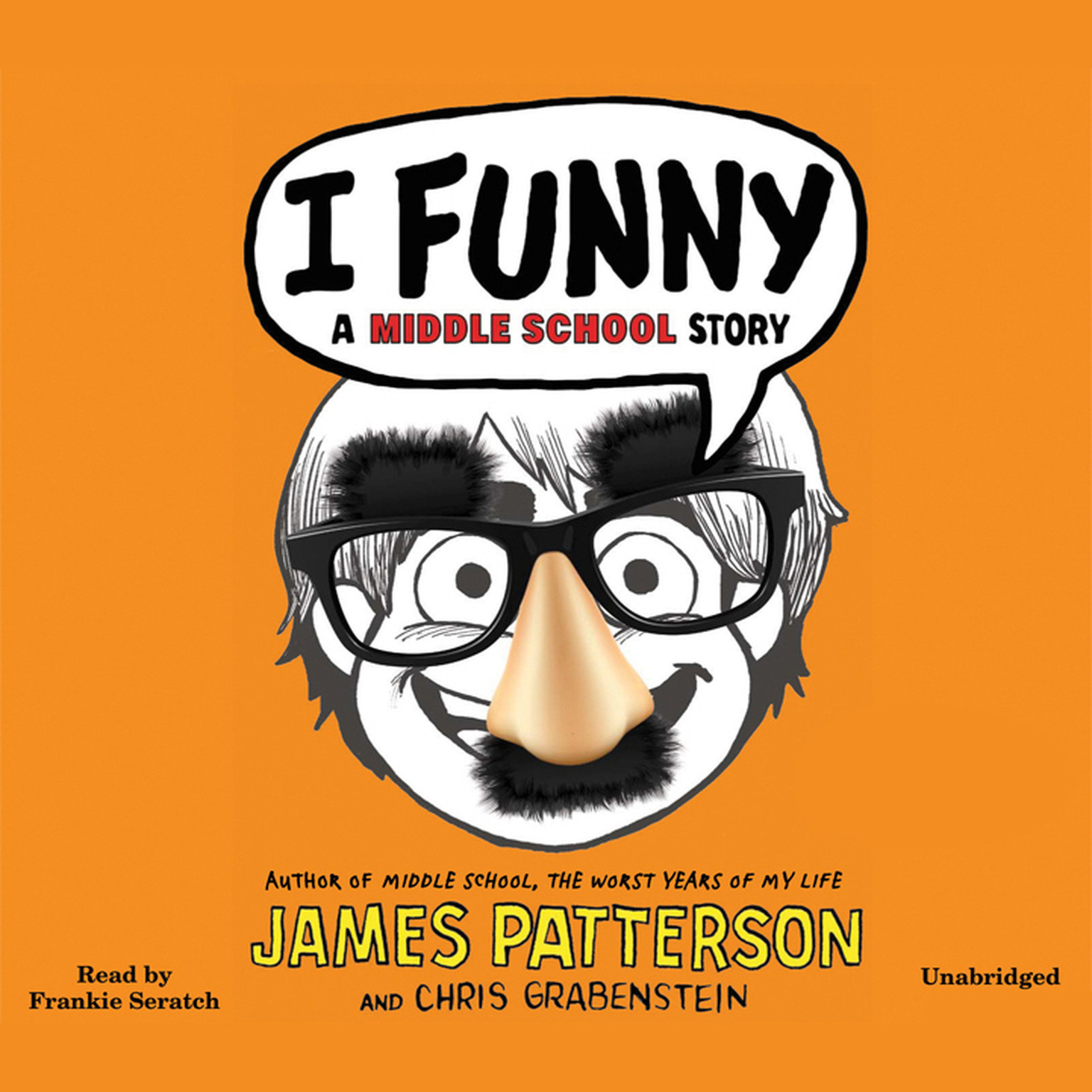 Printable I Funny: A Middle School Story Audiobook Cover Art