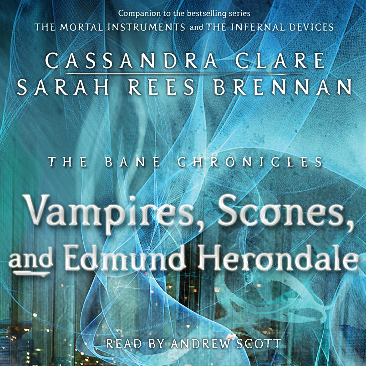 Printable Vampires, Scones, and Edmund Herondale Audiobook Cover Art