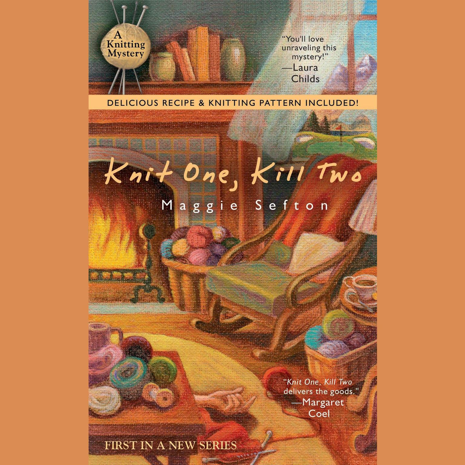 Printable Knit One, Kill Two Audiobook Cover Art