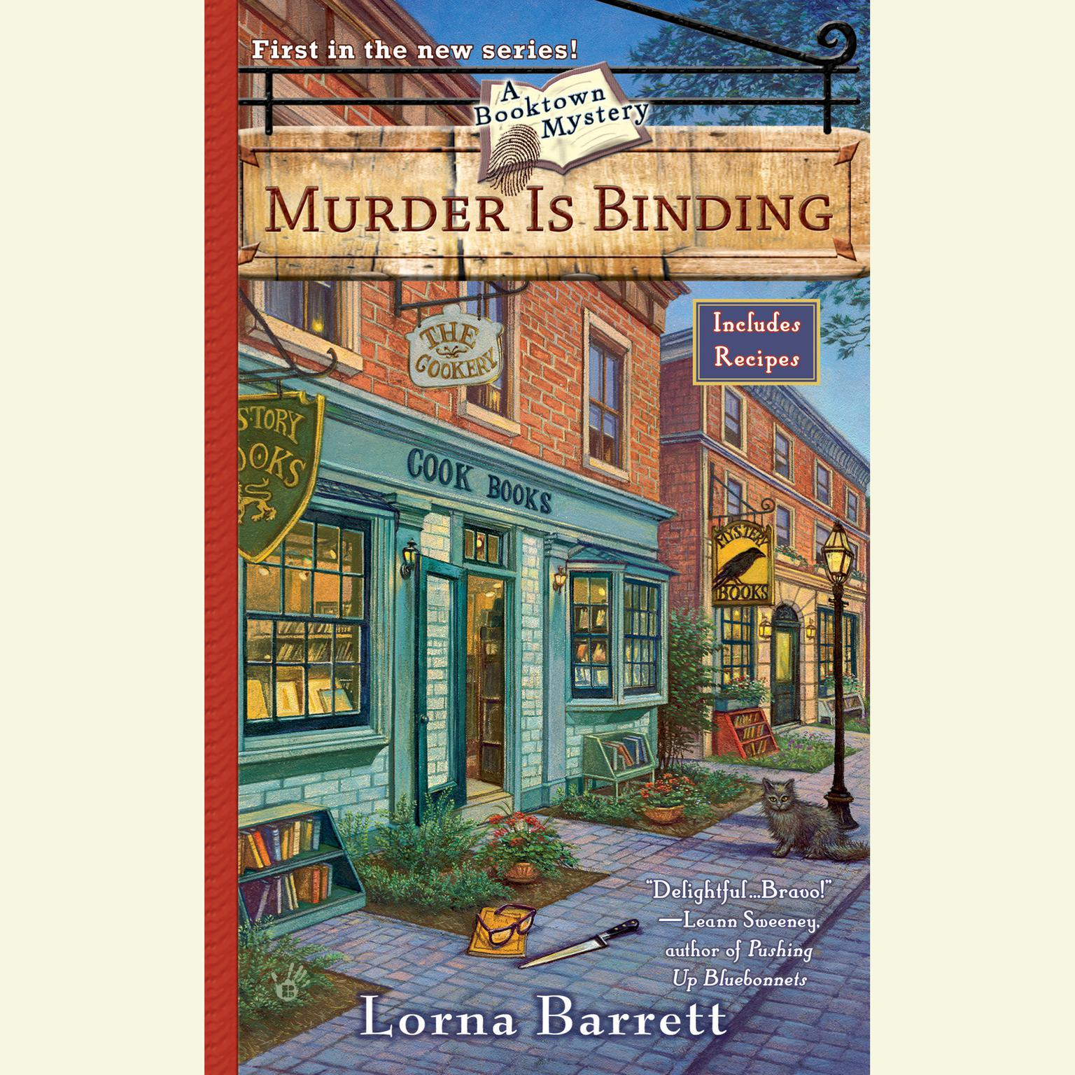 Printable Murder Is Binding Audiobook Cover Art