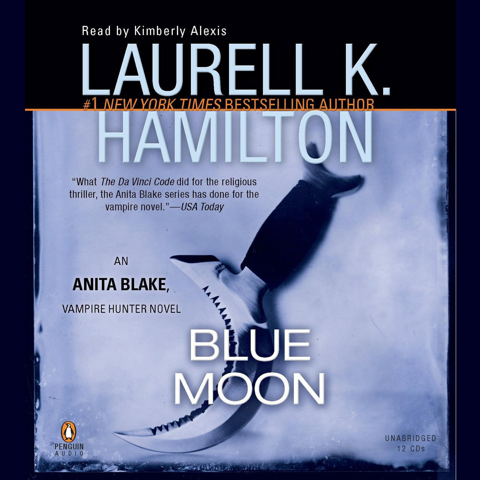 Printable Blue Moon: An Anita Blake, Vampire Hunter Novel Audiobook Cover Art