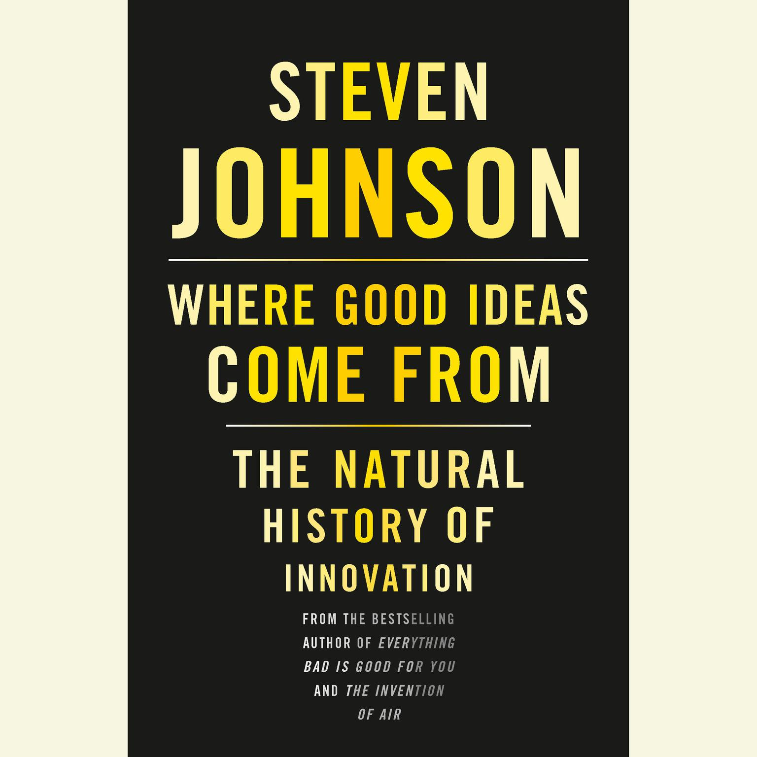 Printable Where Good Ideas Come From: The Natural History of Innovation Audiobook Cover Art
