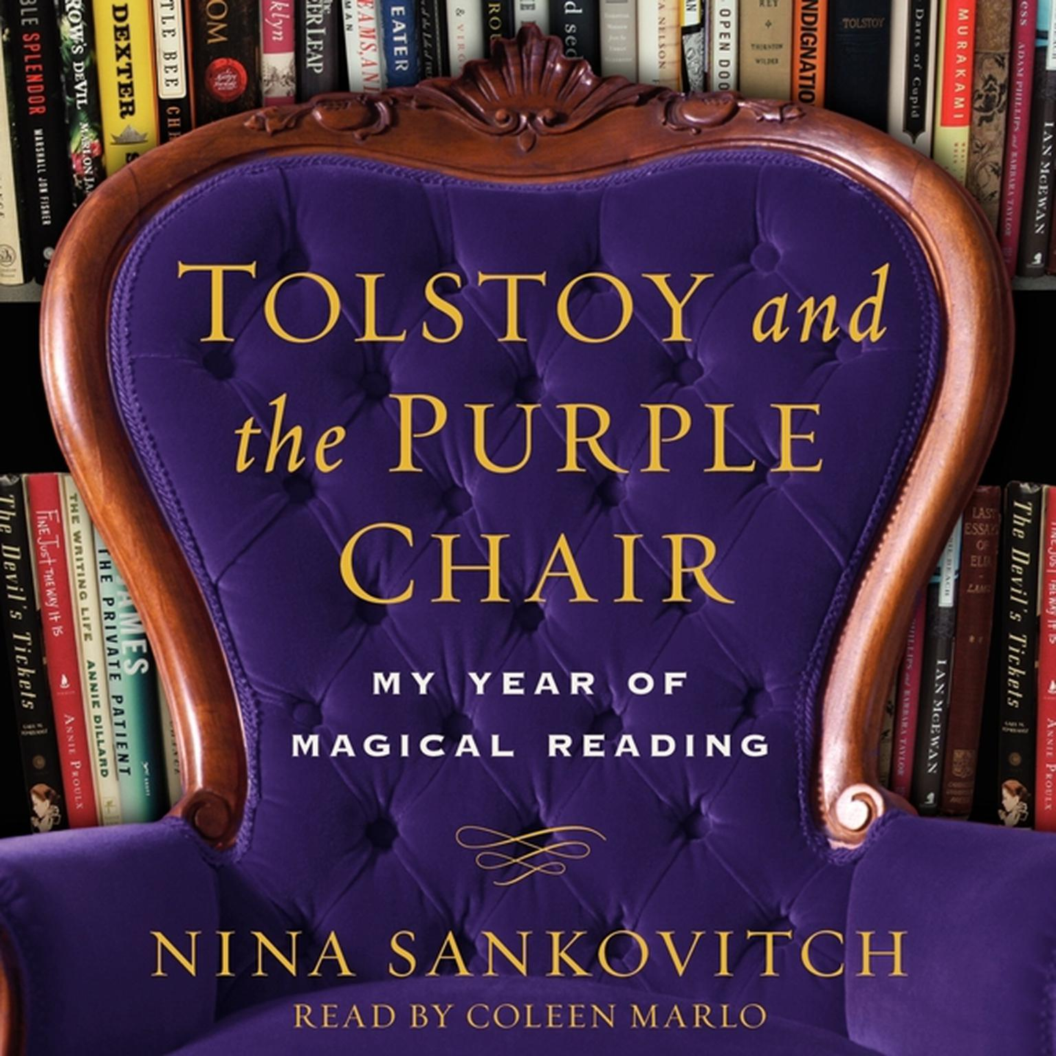 Printable Tolstoy and the Purple Chair: My Year of Magical Reading Audiobook Cover Art