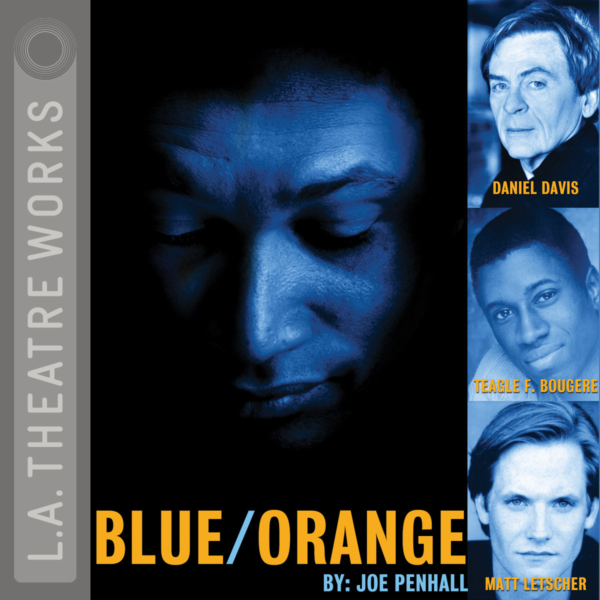 Printable Blue/Orange Audiobook Cover Art