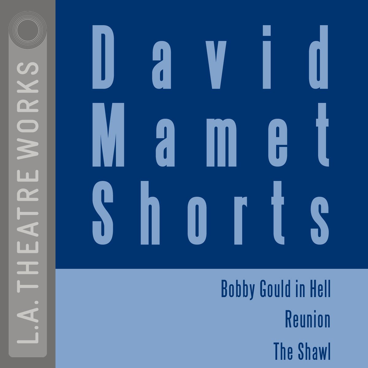 "Printable David Mamet Shorts: ""Bobby Gould in Hell""; ""Reunion""; ""The Shawl"" Audiobook Cover Art"