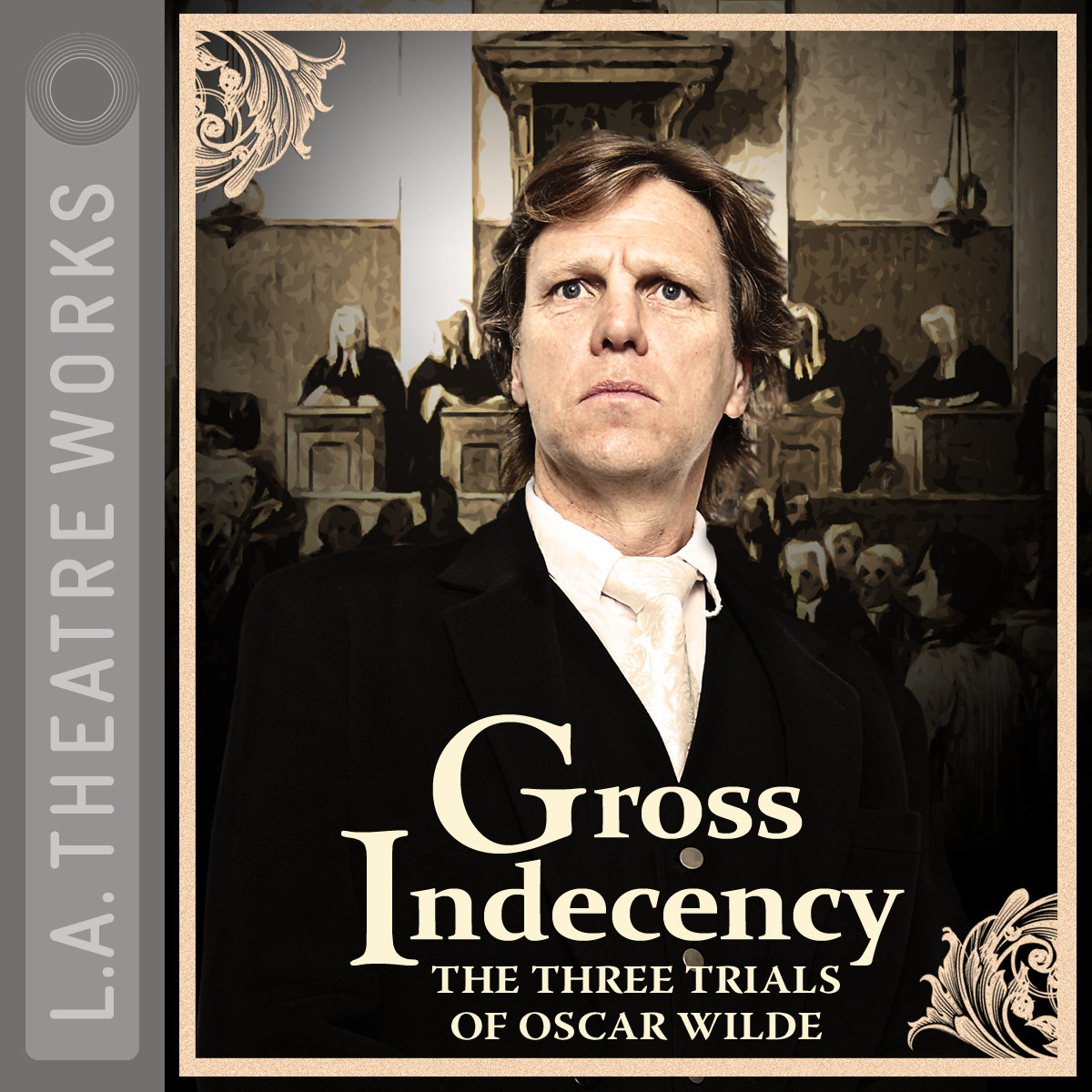 Printable Gross Indecency: The Three Trials of Oscar Wilde Audiobook Cover Art