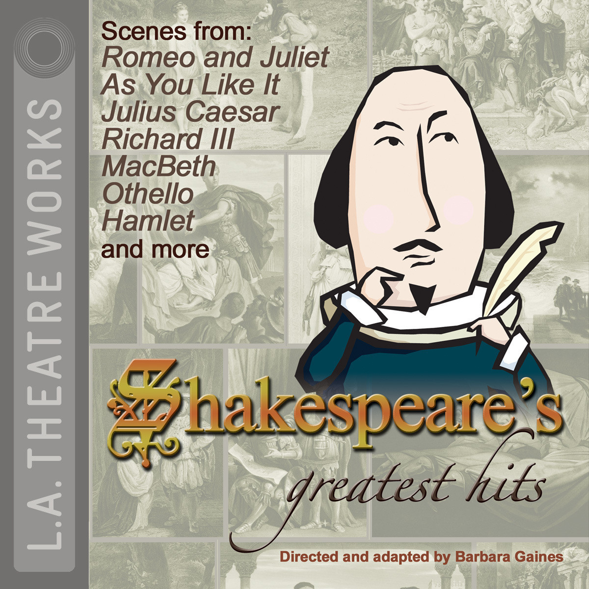 Printable Shakespeare's Greatest Hits Audiobook Cover Art