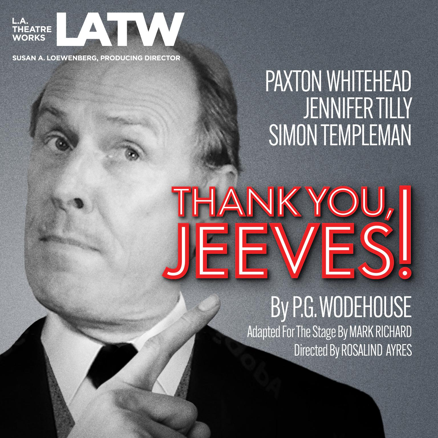 Printable Thank You, Jeeves Audiobook Cover Art