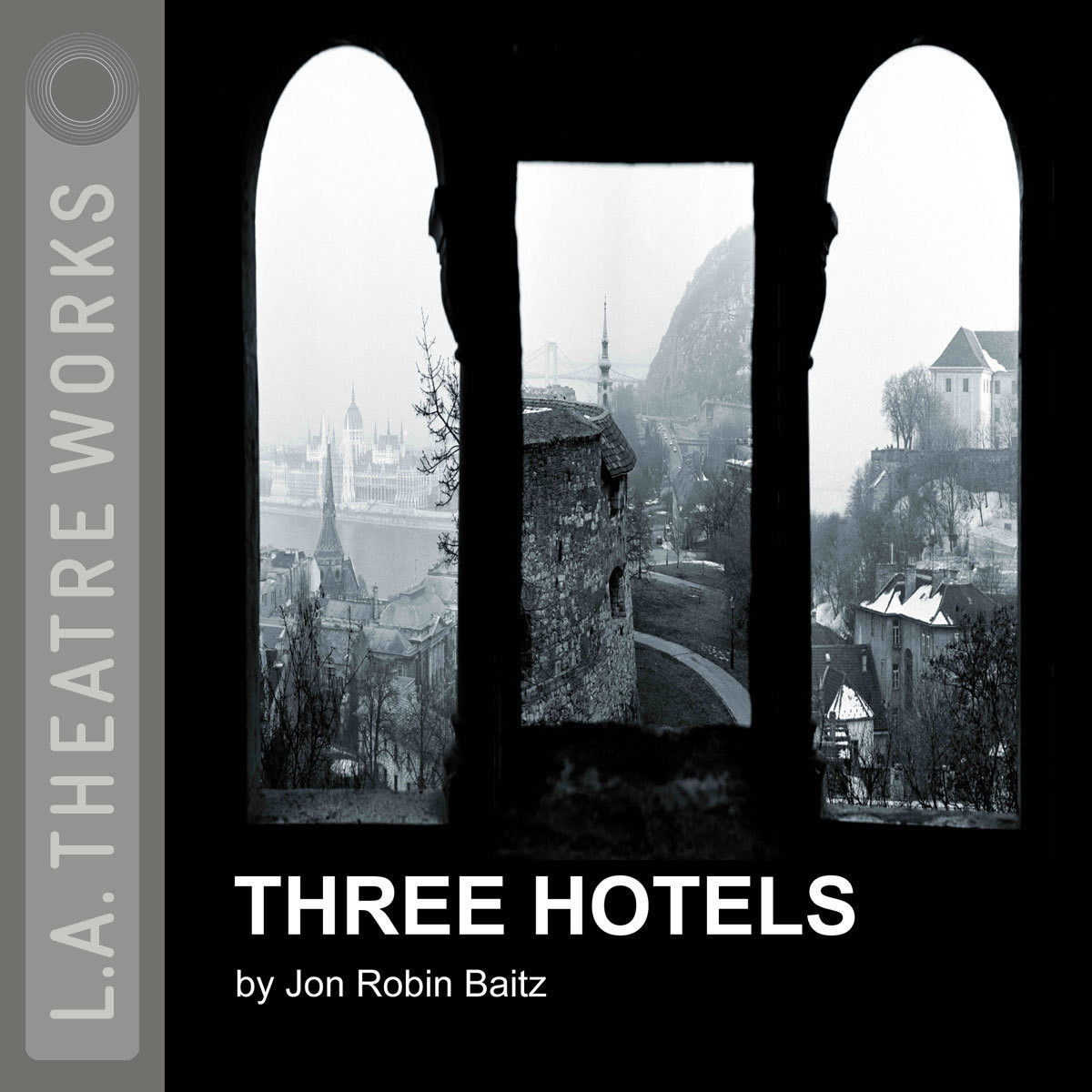 Printable Three Hotels Audiobook Cover Art