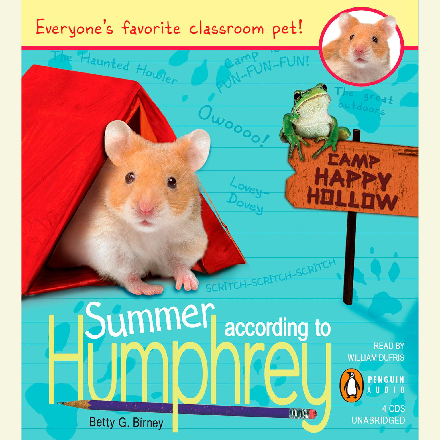 Printable Summer According to Humphrey Audiobook Cover Art