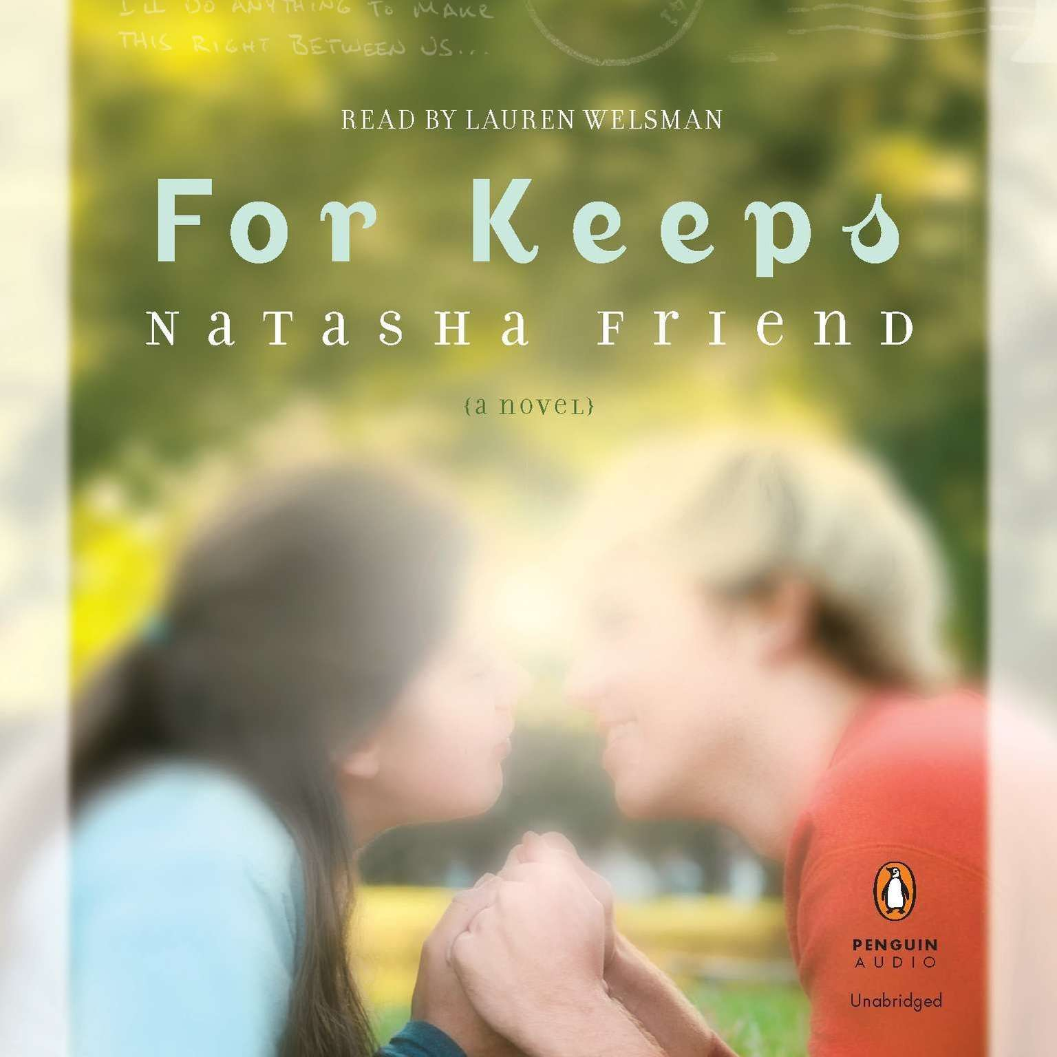Printable For Keeps Audiobook Cover Art
