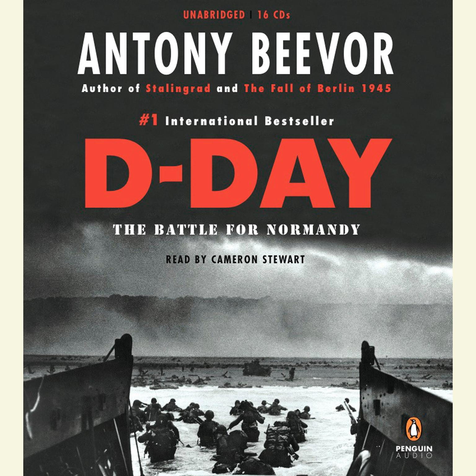 Printable D-Day: The Battle for Normandy Audiobook Cover Art