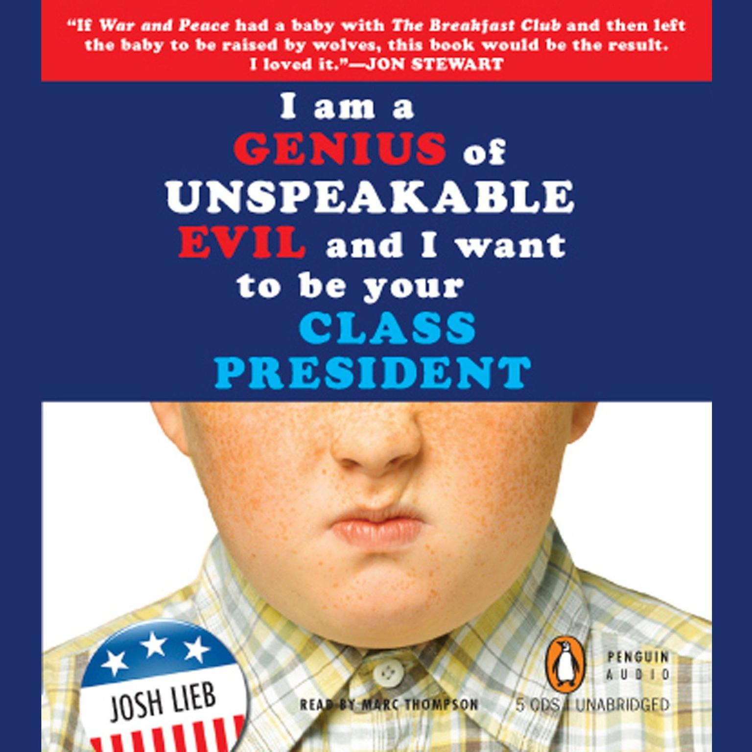 Printable I Am a Genius of Unspeakable Evil and I Want to Be Your Class President Audiobook Cover Art