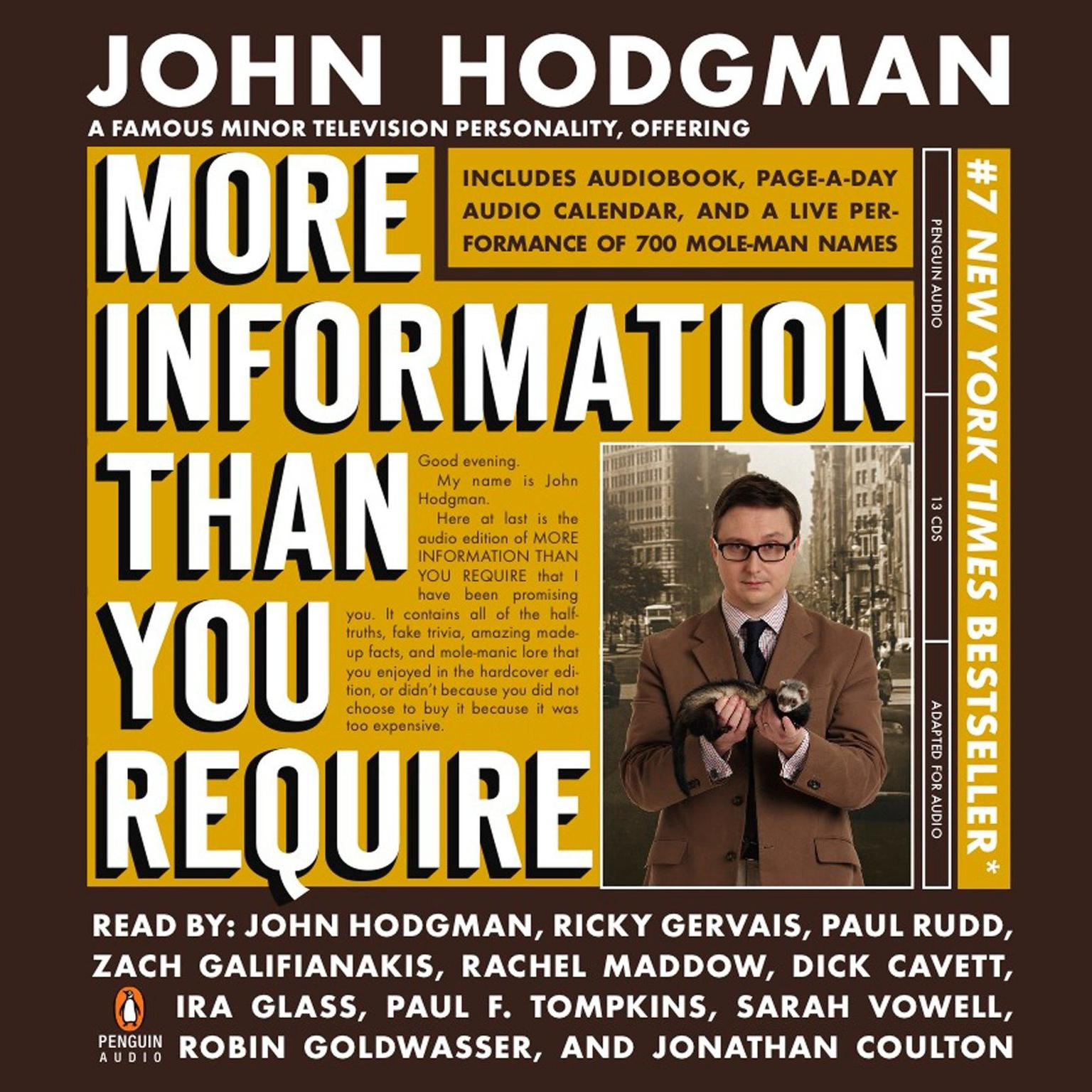 Printable More Information Than You Require Adapted Audiobook Cover Art