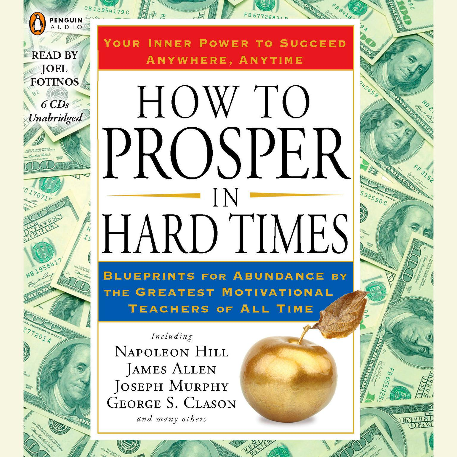 Printable How to Prosper in Hard Times: Blueprints for Abundance by the Greatest Motivational Teachers of All Time Audiobook Cover Art