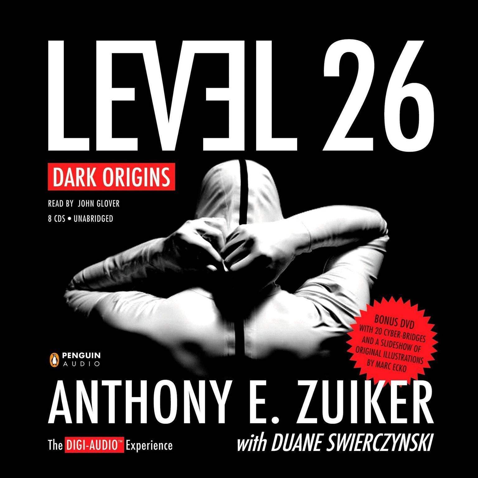 Printable Level 26: Dark Origins Audiobook Cover Art
