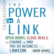 The Power in a Link: Open Doors, Close Deals, and Change the Way You Do Business Using LinkedIn, by David Gowel, Dave Gowel