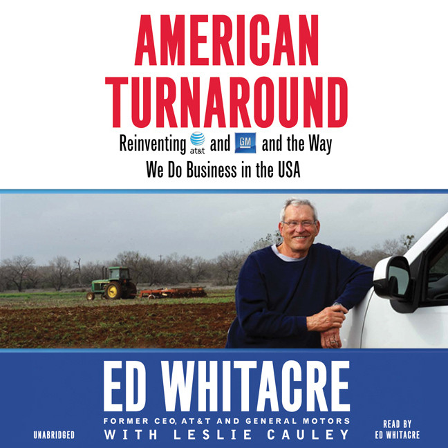 Printable American Turnaround: Reinventing AT&T and GM and the Way We Do Business in the USA Audiobook Cover Art