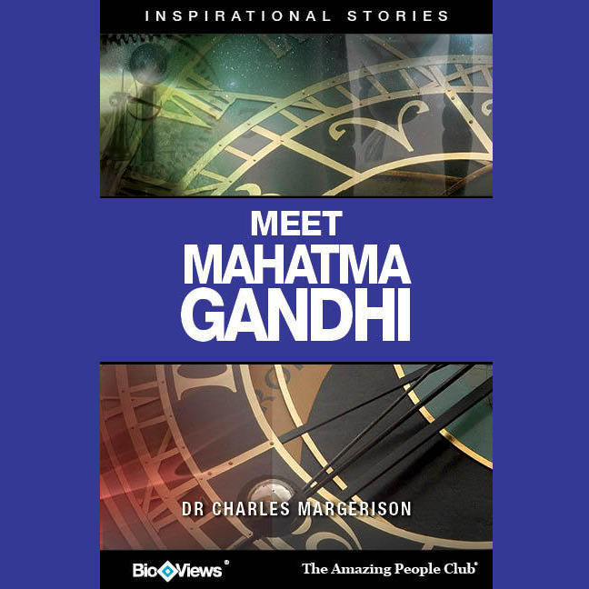 Printable Meet Mahatma Gandhi: Inspirational Stories Audiobook Cover Art