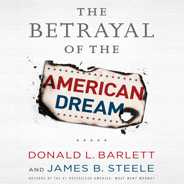 Printable The Betrayal of the American Dream Audiobook Cover Art