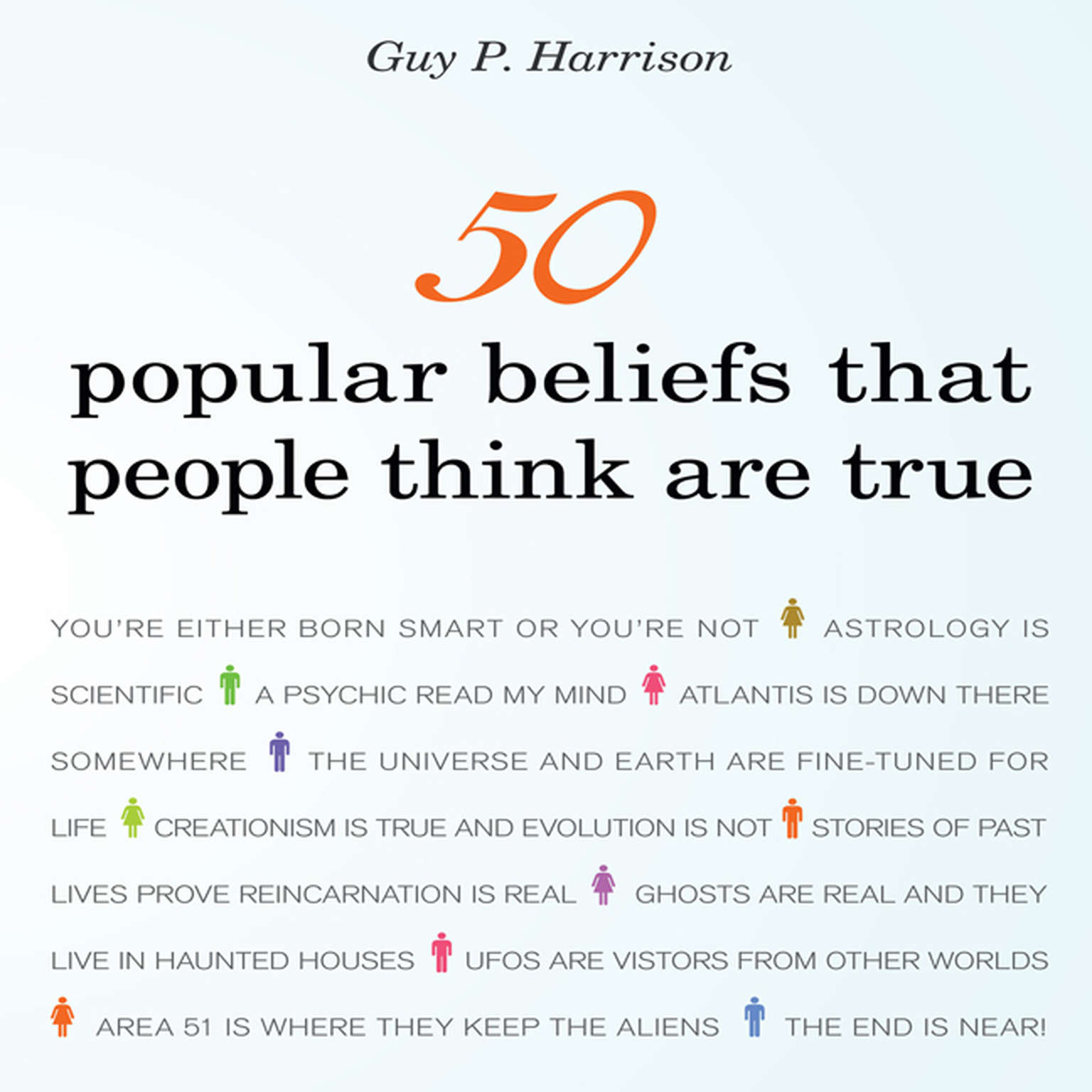 Printable 50 Popular Beliefs That People Think Are True Audiobook Cover Art