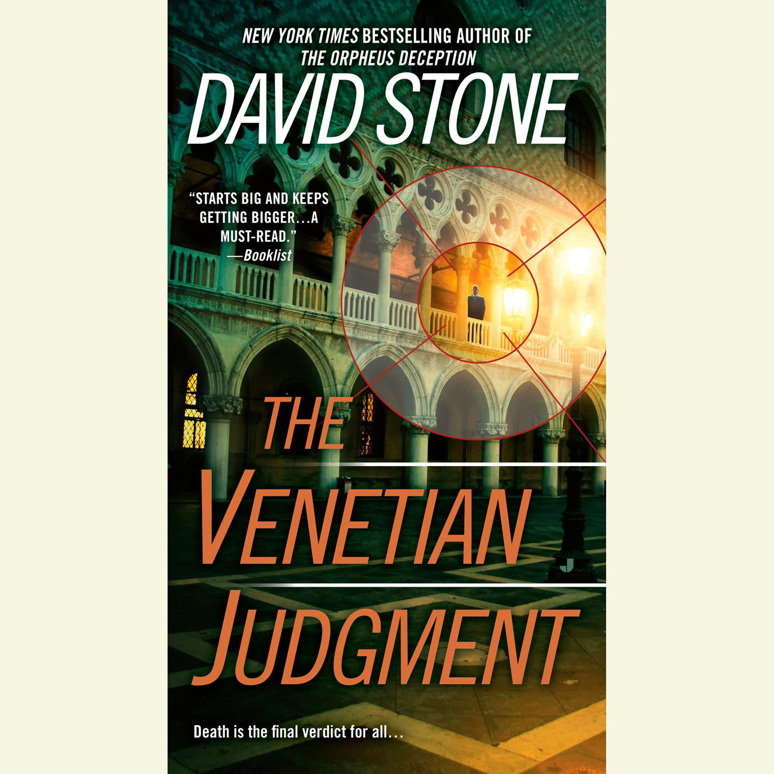 Printable The Venetian Judgment Audiobook Cover Art