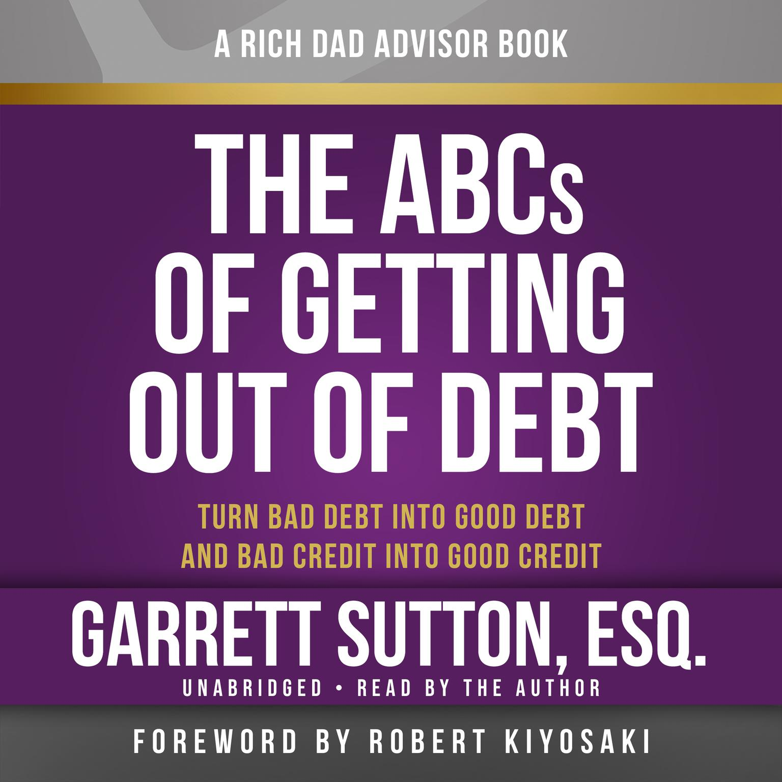 Printable The ABCs of Getting Out of Debt: Turn Bad Debt into Good Debt and Bad Credit into Good Credit Audiobook Cover Art