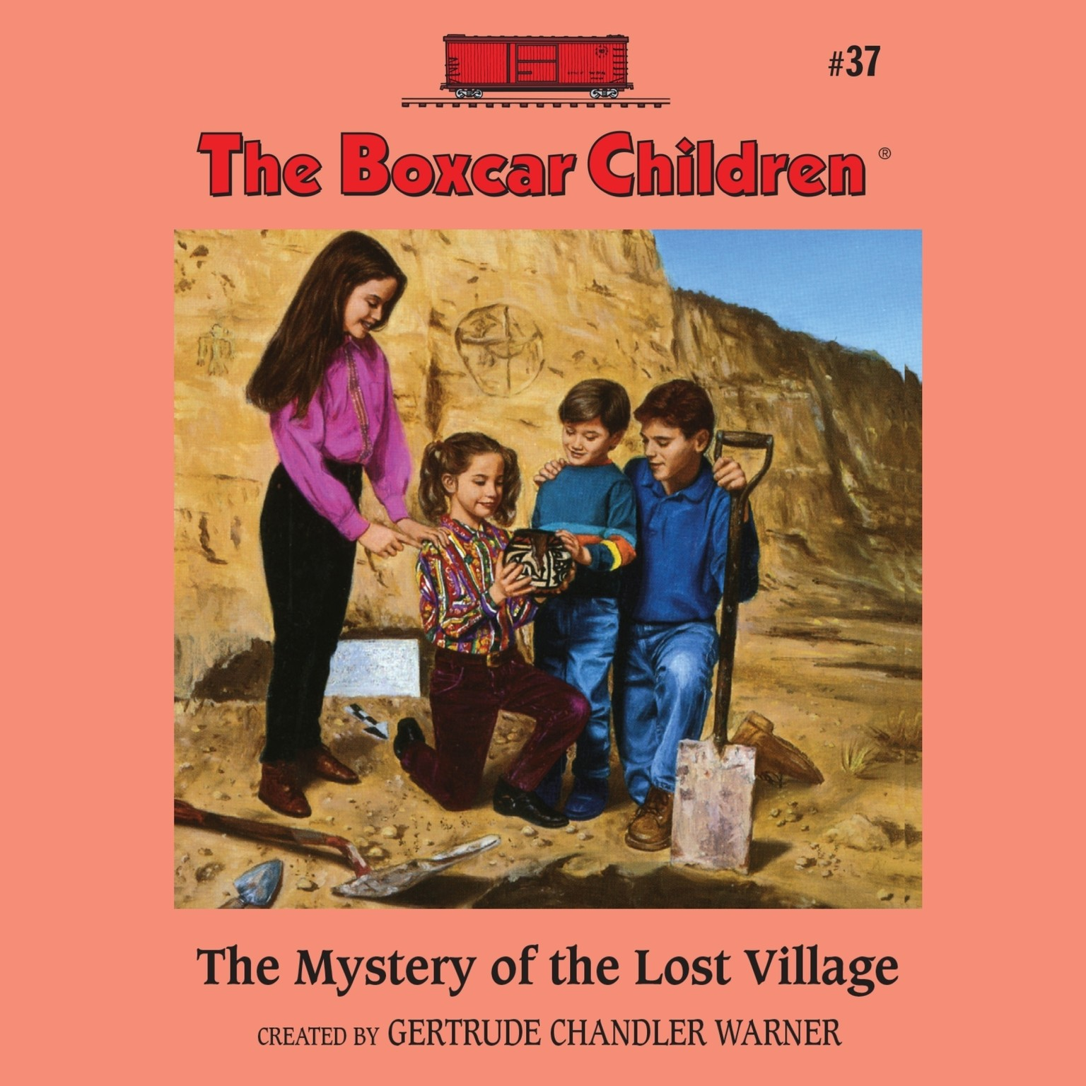Printable The Mystery of the Lost Village Audiobook Cover Art