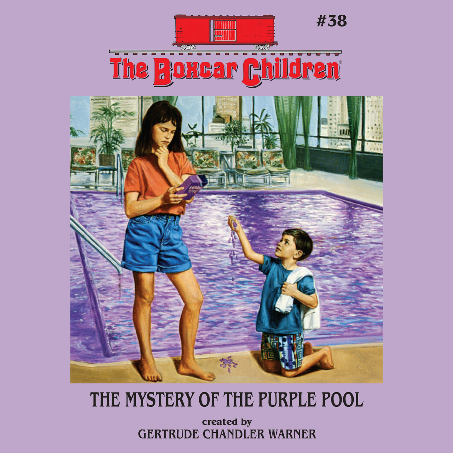 Printable The Mystery of the Purple Pool Audiobook Cover Art