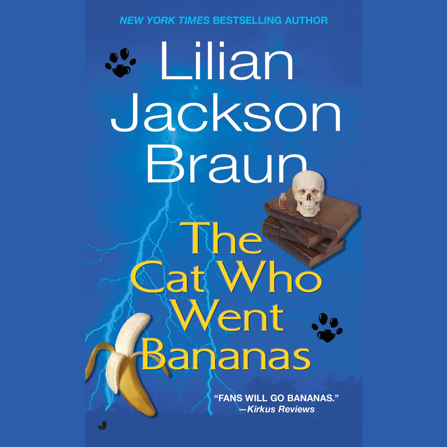 Printable Cat Who Went Bananas Audiobook Cover Art
