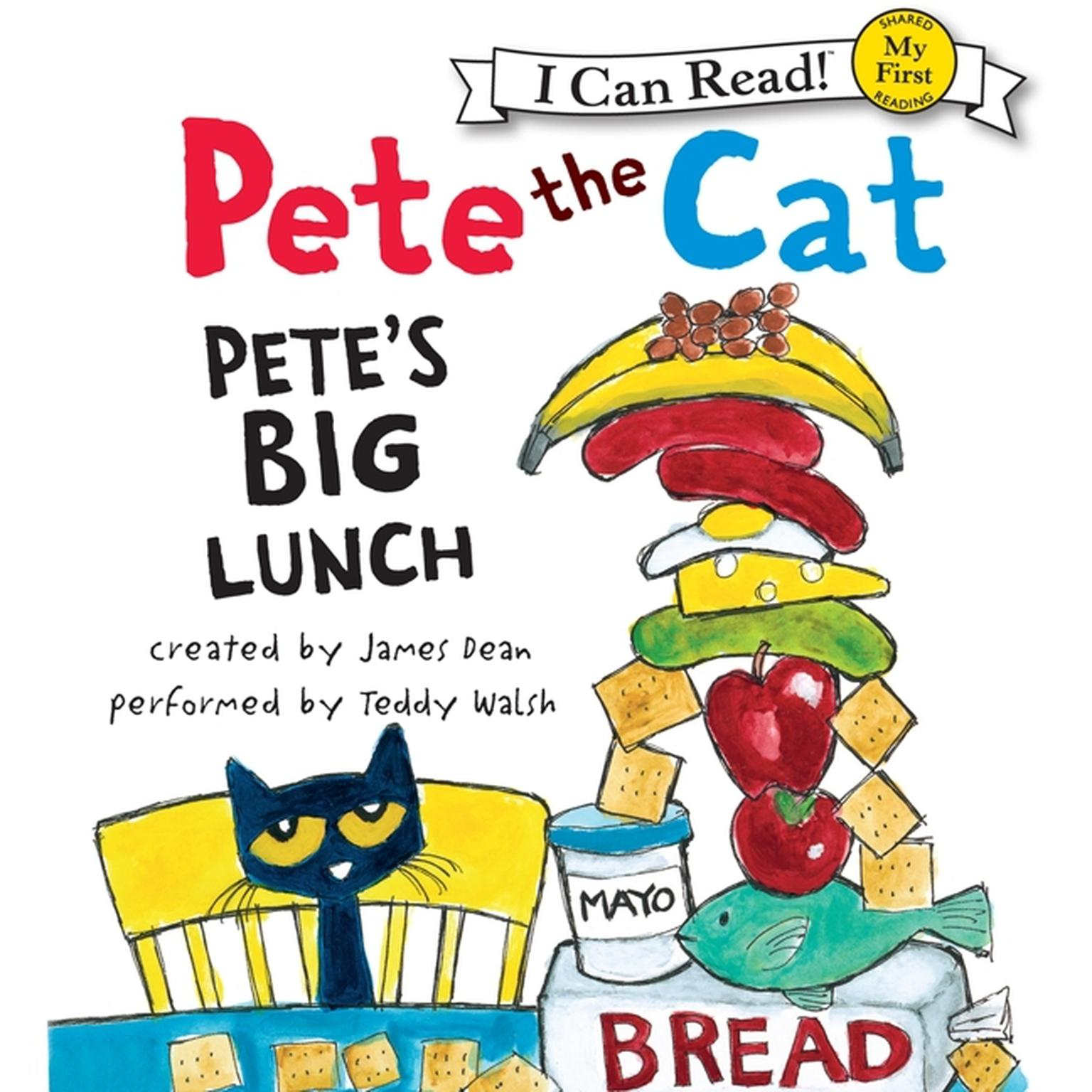 Printable Pete the Cat: Pete's Big Lunch Audiobook Cover Art
